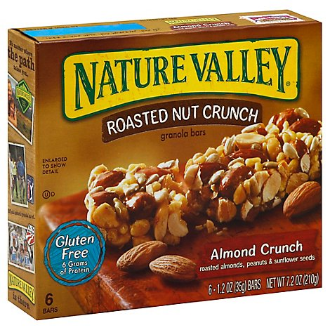 Nature Valley Nut Bars Crunch Roasted Almond Crunch - 6-1.24 Oz