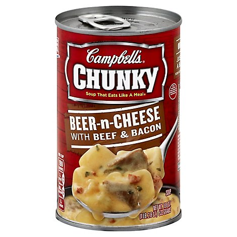 Campbells Chunky Soup Beer-n-Cheese With Beef & Bacon - 18.8 Oz