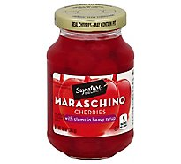 Signature SELECT Cherries Maraschino with Stems - 10 Oz
