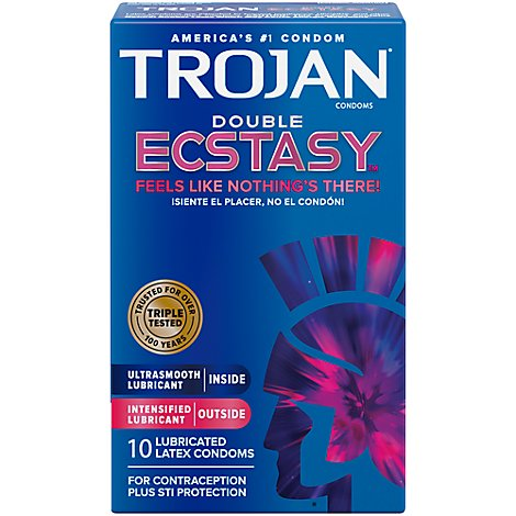Trojan Condoms Double Ecstasy - 10 Count