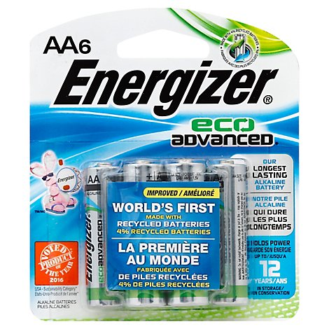 Energizer Batteries Eco Advanced AA - 6 Package