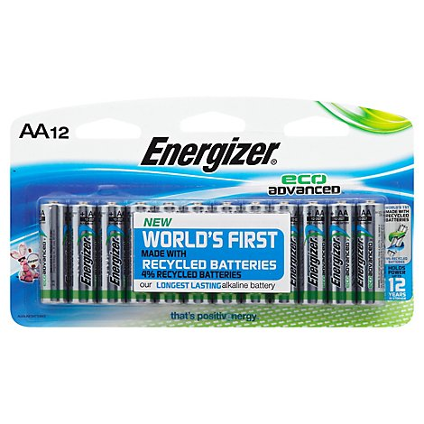 Energizer Batteries Eco Advanced AA - 12 Package