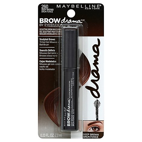 Maybelline Eyebrow Brow Drama By Eye Studio Deep Brown 260 - 0.23 Fl. Oz.