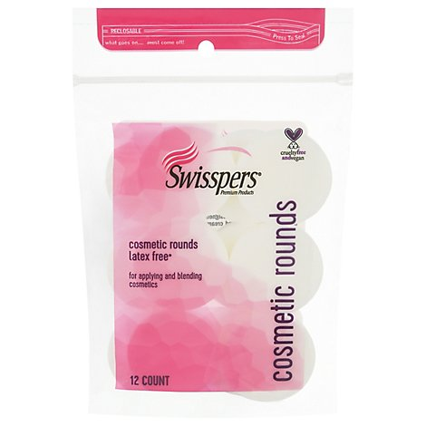 Swisspers Rounds Cosmetic Make Up Application - 12 Count