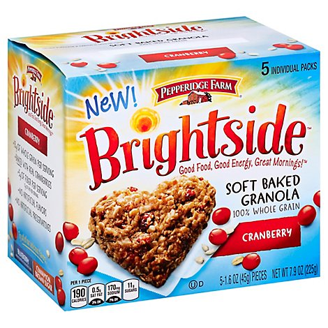 Pepperidge Farm Brightside Soft Baked Granola Cranberry - 5-1.6 Oz