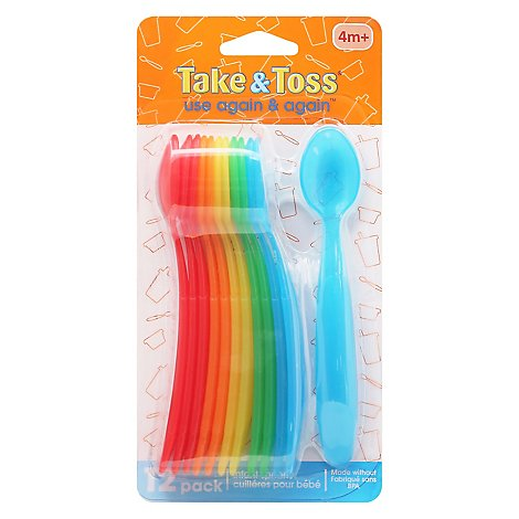 The First Years Take & Toss Spoons - 12 Count