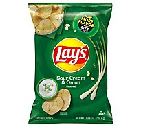Lays Potato Chips Sour Cream & Onion - 7.75 Oz