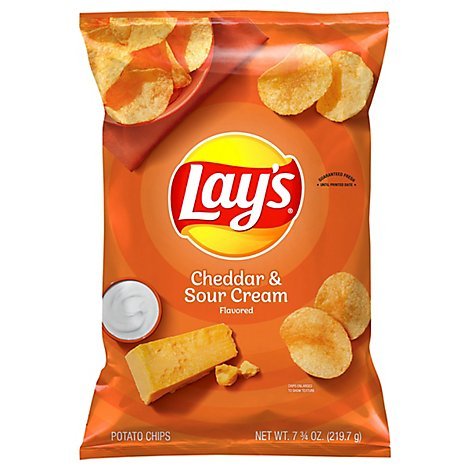 Lays Potato Chips Cheddar & Sour Cream - 7.75 Oz