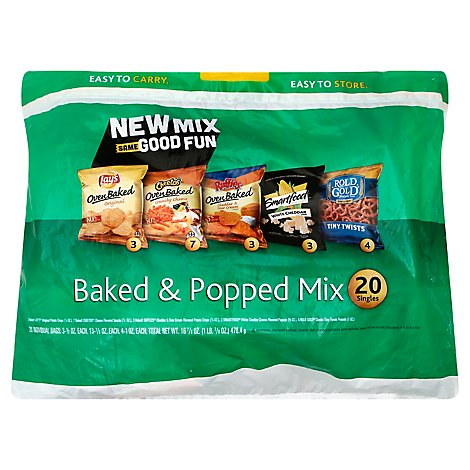 Frito Lay Snacks Baked & Popped Mix Bag - 18-1 Oz