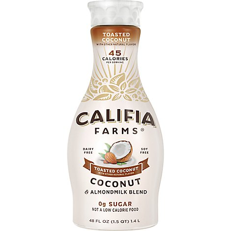 Califia Farms Almondmilk Pure Soy Free Toasted Coconut Carrageenan Free - 48 Fl. Oz.