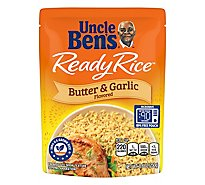 Uncle Bens Ready Rice Pouch Butter & Garlic Flavored - 8.8 Oz