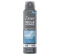 Dove Men+Care Antiperspirant Dry Spray Clean Comfort - 3.8 Oz