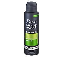 Dove Men+Care Antiperspirant Deodorant Dry Spray 48h Extra Fresh - 3.8 Oz