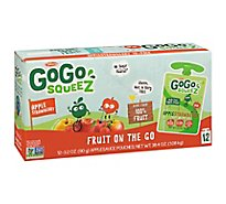 GoGo squeeZ Applesauce Apple Strawberry - 12-3.2 Oz