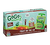 GoGo squeeZ Applesauce Apple Cinnamon - 12-3.2 Oz