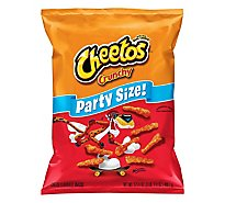 Cheetos Snacks Cheese Flavored Crunchy Party Size - 17.5 Oz