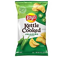 Lays Potato Chips Kettle Cooked Jalapeno - 8 Oz