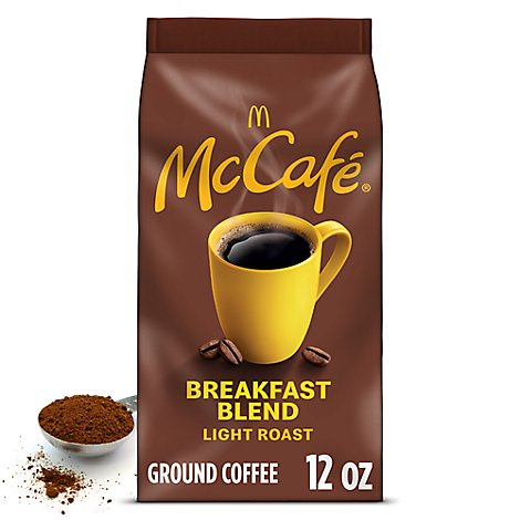 McCafe Coffee Arabica Ground Light Roast Breakfast Blend - 12 Oz