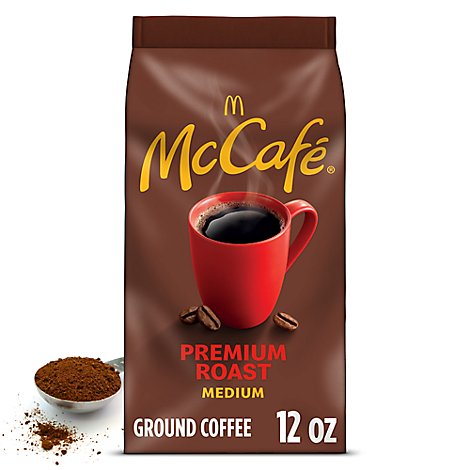 McCafe Coffee Arabica Ground Medium Roast Premium Roast Bag - 12 Oz