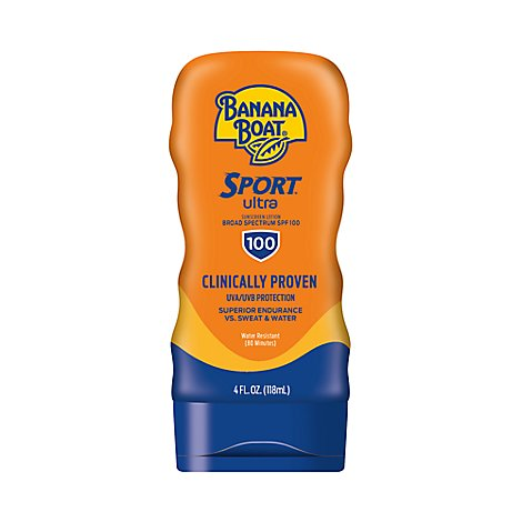 Banana Boat Ultra Sport Sunscreen Lotion Broad Spectrum SPF 100 - 4 Fl. Oz.