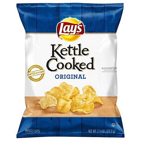 Lays Potato Chips Kettle Cooked Original - 2.75 Oz