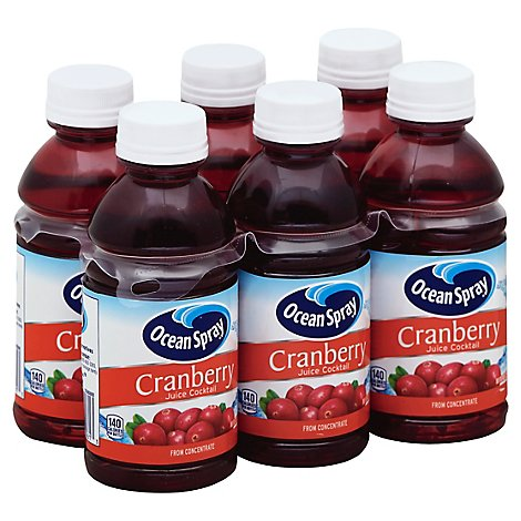 Ocean Spray Juice Cocktail Cranberry - 6-10 Fl. Oz.