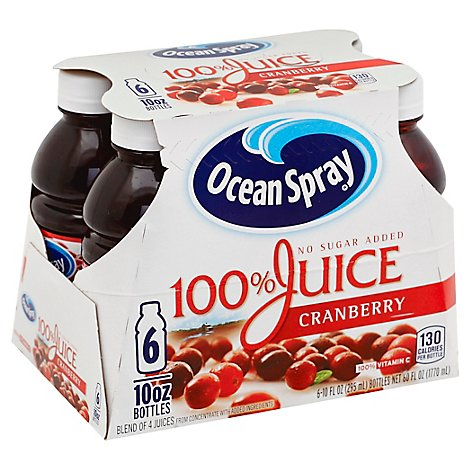 Ocean Spray 100% Juice Cranberry - 6-10 Fl. Oz.