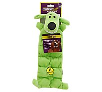 Multipet Dog Toy Loofa Squeaks Mat Card - Each