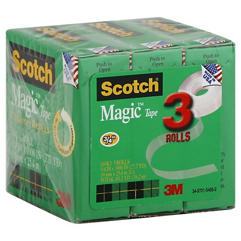 Scotch Magic Tape 3/4 x 1000 Inch - 3 Count