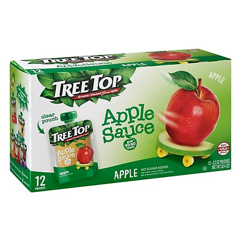 Tree Top Apple Sauce Apple Pouches - 12-3.2 Oz