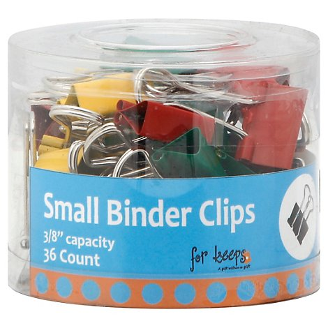 Assorted Binder Clip - 36 Count