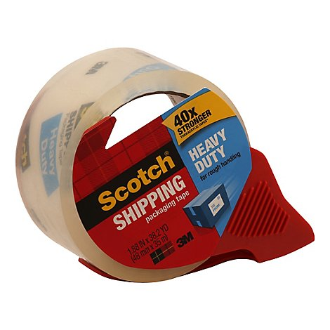 Scotch Shipping Packaging Tape Heavy Duty 1.88 Inch x 38.2 Yard - Each