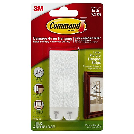 Command Large Picture Hanging Strips White - Each
