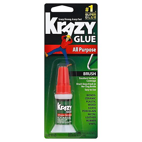 Krazy Glue Super Glue All Purpose Brush - 0.18 Oz