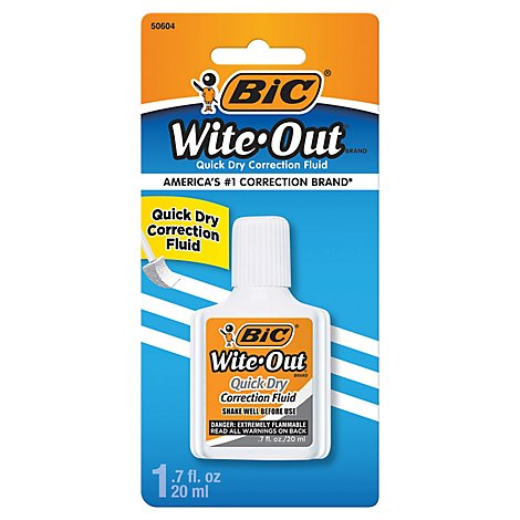 Bic Wite Out Correction Fluid Quick Dry White - 1 Count
