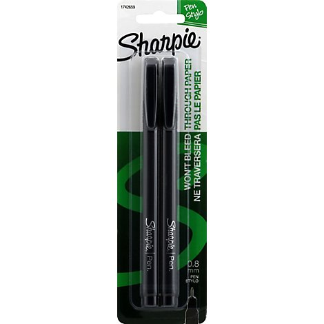 Sharpie Pen Porous Point Black - 2Count