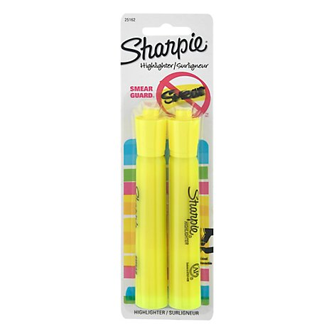 Sharpie Tank Highlighter Yellow - 2Count