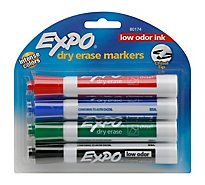 Expo Dry Erase Markers Intense Colors Chisel Tip - 4 Count