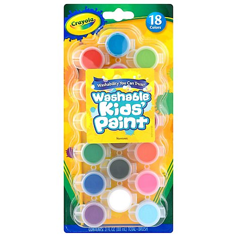 Crayola Kids Paint Washable Assorted Colors - 18 Count