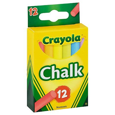 Crayola Chalk Sticks Colored - 12 Count