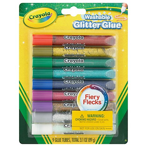 Crayola Glitter Glue Washable Bold - 9 Count