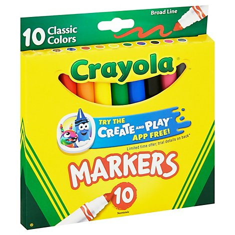 Crayola Markers Broad Line Classic Colors - 10 Count