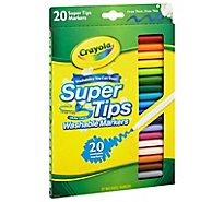 Crayola Markers Washable Super Tips - 20 Count