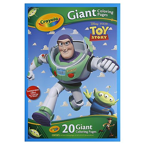 Crayola Coloring Pages Giant Disney Pixar Toy Story - 20 Count