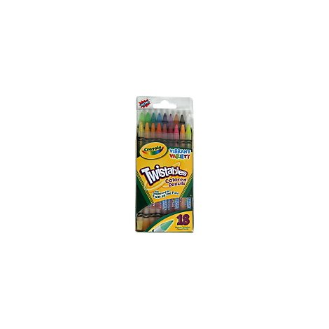 Crayola Twistables Colored Pencils Vibrant Variety - 18 Count