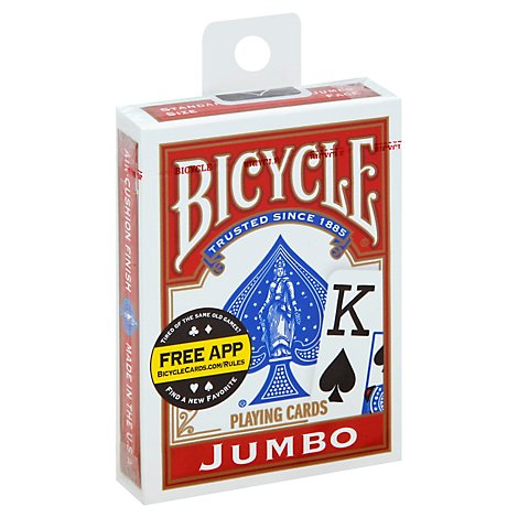 Bicycle Playing Cards Jumbo - Each