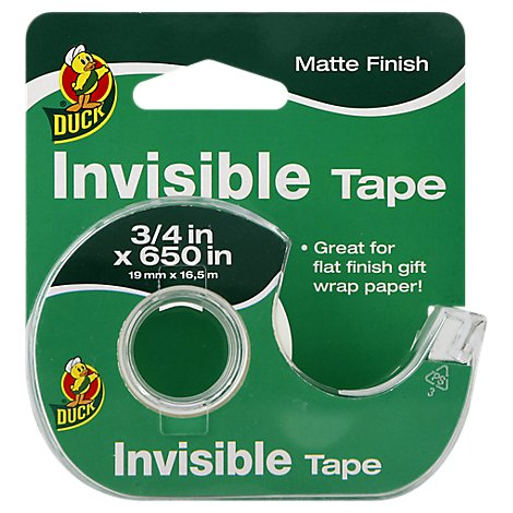 Duck Tape Invisible Matte Finish .75 Inch x 650 Inch - Each