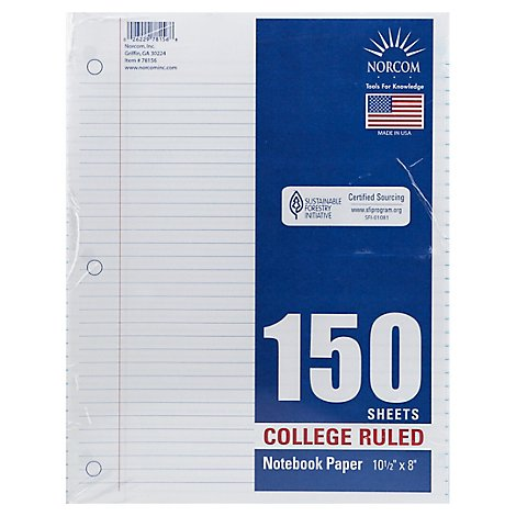 Top Flight Filler Paper College Rule 150 Sheets - Each