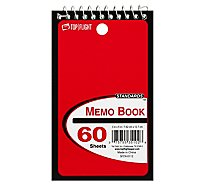 Top Flight Memo Book Top Wire 3 Inch x 5 Inch 60 Sheets - Each