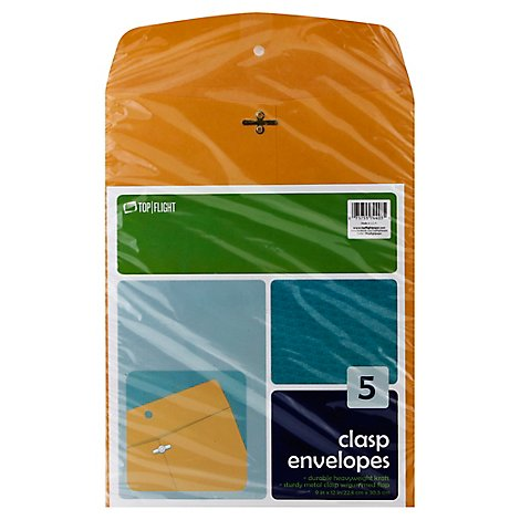 Top Flight Envelopes Clasp - 5 Count
